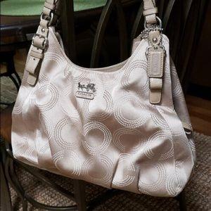 Authentic Coach Sateen Fabric Shoulder Bag
